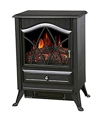 """Galleon Fires """"Neos"""" Electric Stove -Nickel Handles- Fireplace Heater- Real Log Flame Effect- Burner Electric Stove Fire Places/ Fireplaces Freestanding - New Model"""
