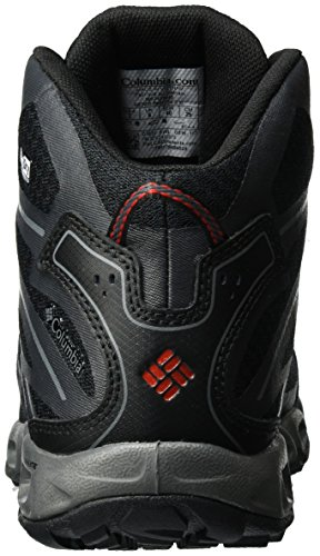 Columbia Ventrailia Ii Mid Outdry, Chaussures Multisport Outdoor Homme Noir (Black, Mountain Red