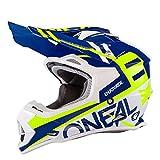 Casco da motocross O'Neal serie 2 RL Spyde, Blau