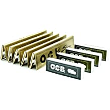 [5 Packs] OCB Gold Premium King Size Slim Rolling Papers with [4 Booklets] of OCB Rolling Tips