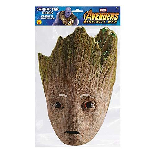 empireposter Marvel - Groot - Papp Maske, aus hochwertigem Glanzkarton mit Augenlöchern, Gummiband - Größe ca. 30x21 cm (Groot Marvel Kostüm)
