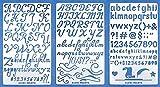 Aleks Melnyk #34 Plantillas Stencils de Metal para estarcir/Abecedario, Letters, Letras, Alfabeto, Numeros/para Arte Manualidades y decoración/Plantillas para Estarcidos/3 piezas/Bricolaje, DIY
