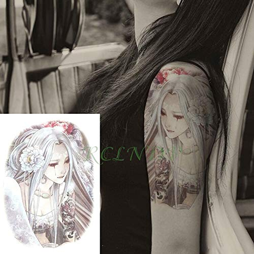 tzxdbh Etiqueta Engomada del Tatuaje Temporal a Prueba de Agua Diseños Artísticos Falso Tatto Tamaño Grande Tatoo Brazalete Pierna Brazo Mano para Niña Mujer