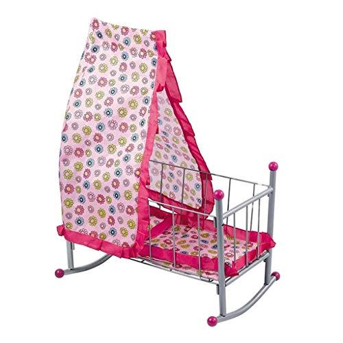 Homyl Babypuppe Krippe / Wiege Bett / Babybett mit Zelt Möbel Modell für Neugeborenes Baby Puppe Zubehör