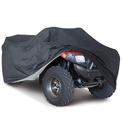XXXL Quad ATV Abdeckplane NOVSIGHT Fahrzeug Abdeckung Schutz Cover Winterfest Staub Regen UV-Schutz Schwarz