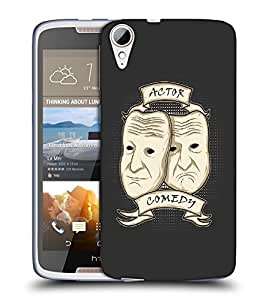Snoogg Actor Comedy Designer Protective Back Case Cover For HTC 828