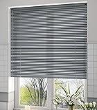 Veneciana aluminio 25mm (desde 36cm hasta 240cm de ancho). Color gris medio. Medida 110cm x 140cm para ventanas y puertas