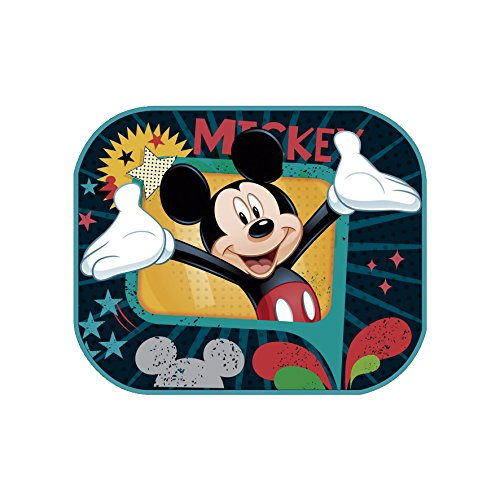 Preisvergleich Produktbild 2-er Set Sonnenschutz für Babys und Kinder Autosonnenschutz Disney Mickey Mouse Sonnenblende Universell