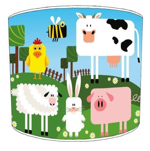 Premier Lampenschirme Tabelle Bauernhof-Yard-Lampenschirme - Durchmesser 30cm - Bauernhof-tabelle