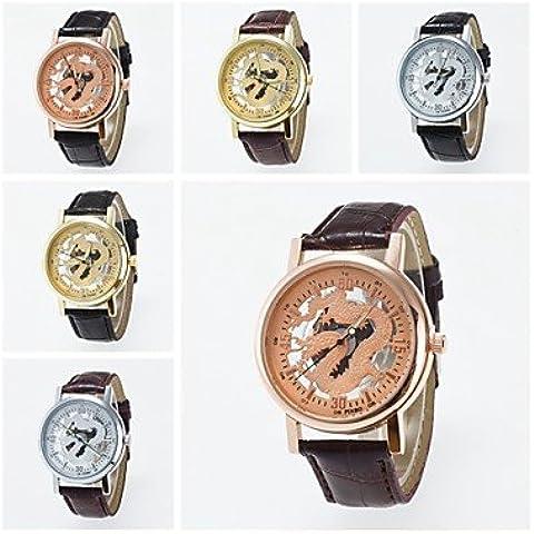 2016 nuovo arrivo cinese concetto orologio unisex drago scheletro orologio da polso ( Colore : Argento ) - Drago Quarzo Orologio