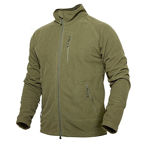 51Yy14cdYpL. SS500  - TACVASEN Men's Full Zip Fleece Windproof Slim Fit Lightweight Sweatshirt