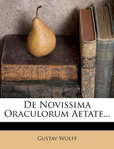 De Novissima Oraculorum Aetate...