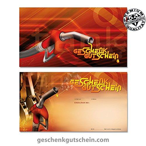 """10 Stk. Gutscheinkarten """"Standard"""" für Tankstellen, Werkstätten, Servicestationen TK1218, LIEFERZEIT 2 bis 4 Werktage !"""
