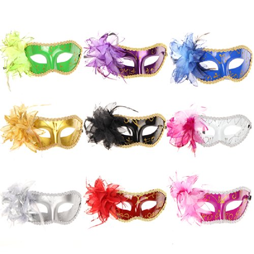 omo-mix-color-10pc-lot-fiore-piuma-halloween-natale-veneziana-mardi-gras-masquerade-fancy-maschera