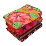 #6: Zacharias Printed Single Person Fleece Blanket Pack of 3