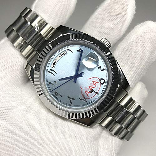ZYYDTY Automatikuhren 19 Farben Luxusuhr Automatik Gelbgold Saphirglas Selbstaufzug 40mm 18k Armbanduhr Blau