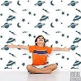Raum Sterne Mond Kinderzimmer Wand Schablone Jungen Kinderzimmer Heim Wand Dekoration & Handwerk Schablone Wandfarbe Stoffe & Möbel 190 Mylar wiederverwendbar Schablone