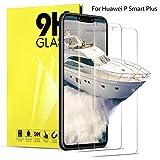 DOSNTO Vetro Temperato per Huawei P Smart Plus Pellicola Protettive Trasparente per Display Protezione Schermo in Vetro Protettiva Compatibile con Cover Pellicole Salvaschermo per P Smart Plus