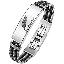 All Blacks Bracelet - Acier inoxydable - 65 cm - 682049