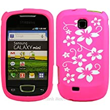 Rosa Flora Silicona Funda Case Para Samsung Galaxy Mini S5570