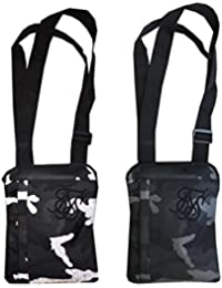 Sik Silk SS-13258 Cross Body Flight Bag - Reflective Black Camo