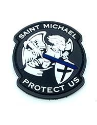 Saint Michael Protect Us Crusader Noir PVC Airsoft Patch