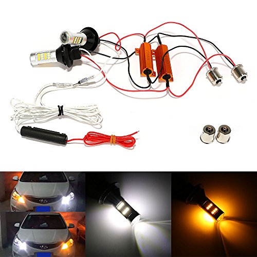 Preisvergleich Produktbild itimo 2/Set Auto Lampen Tagfahrlicht DC 12V 2in 1Auto Turn Signal Light car-styling Universal LED Auto DRL 115642LEDs