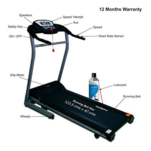 Healthgenie Drive 4012M Motorized Treadmill With Silicone Lubricant 550Ml, Manual Incline & Max Speed 14 Kmph - 12 Months Warranty