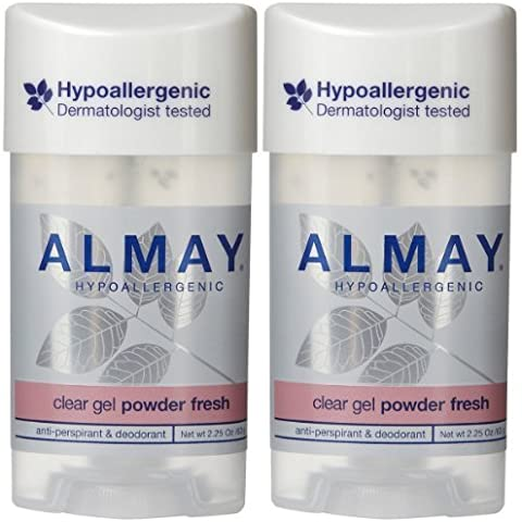 Almay Clear Gel Antiperspirant & Deodorant, Powder Fresh - 2.25