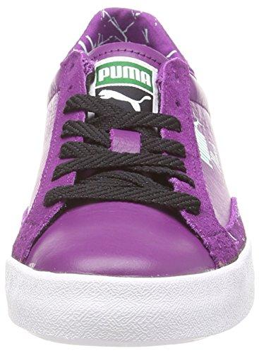 Puma Match Vulc Lo Geometric Wn's, Baskets Basses femme Violet - Violett (grape juice-black-fair aqua 02)