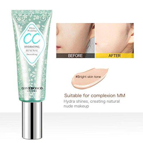 CC Crème Concealer Anti-Cernes Rawdah Beauté Make-Up Fond de Teint Pour Le Contour Des Yeux Fond De Teint Liquide Pour Le Contour Contour Liquide Maquillage Naturel Concealer (A)