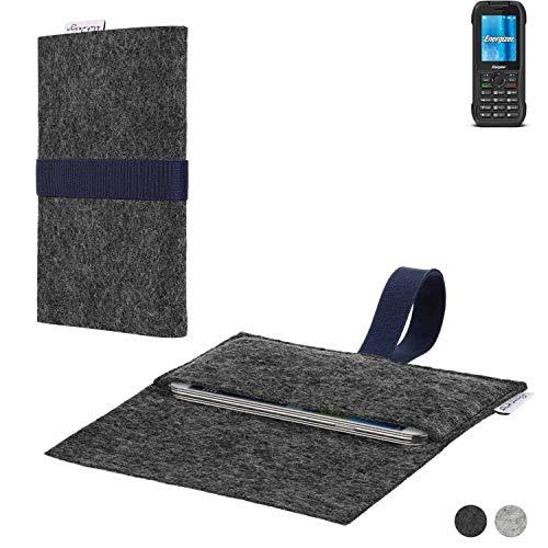 flat.design Handy Hülle Aveiro für Energizer H240S passgenaue Filz Tasche Case Sleeve Made in Germany
