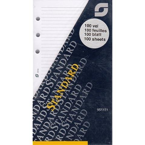 Succes Standard fogli per appunti a righe bianco 100fogli A6Inserto Calendario XT10