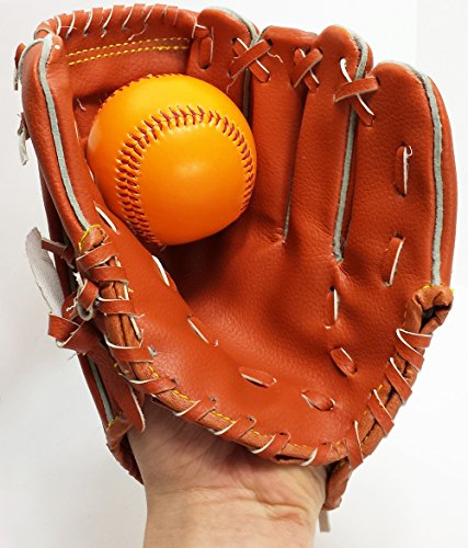 Baseball Set 2 tlg., Fang Handschuh mit Base Ball Junior Kinder Baseball Fanghandschuh (Baseball Set Base)