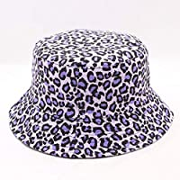 WUSYO Leopard print Bucket Hat Fisherman Hat outdoor travel hat Sun Hat,Purple