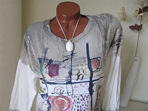 ... Stylisches Shirt Tunika VIELE GLITZER PAILLETTEN @ Batik 38 40 42  Schlamm ...
