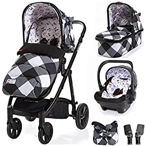 Cosatto Wow 3 in 1 isize Travel System Mademoiselle with Dock car seat Bag footmuff & Raincover   11