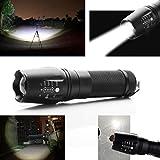Japace Ultra Puissante 2200 Lumens CREE XM-L2 LED Lampe de Poche Torche Crée Zoom Flashlight