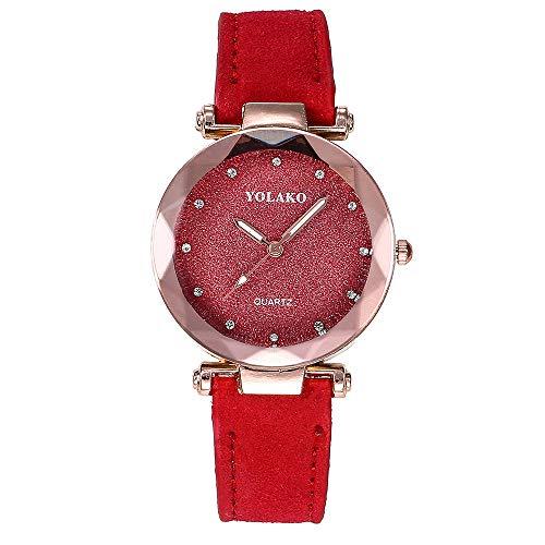 Uhren Damen Armbanduhr Frauen Casual Quarz Lederband Starry Sky Watch Analoge Armbanduhr Schön Armbanduhr für Das Festivalgeschenk,ABsoar