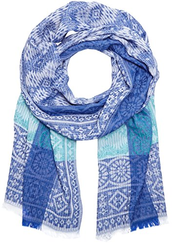 s.Oliver Damen Schal 39.605.91.3582, Blau (Blue Placed Print 56D1), One size