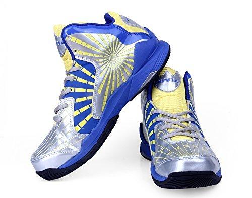 Nivia Phantom Basketball Shoes, Men's 9 UK (Blue/Grey)  available at amazon for Rs.1109