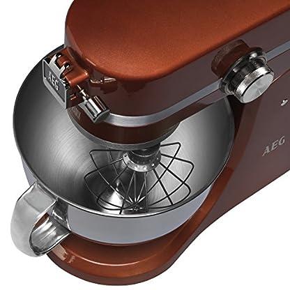 AEG-Kchenmaschine-UltraMix-KM-4100-10-Geschwindigkeitsstufen-14-PS-Motor-LED-Licht-Voll-Metall-Gehuse-48-29-Liter-Edelstahl-Rhrschsseln-inkl-umfangreiches-Zubehr
