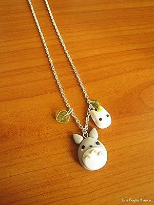 Collier Totoro Miyazaki bijoux fait main en pâte polymère fimo
