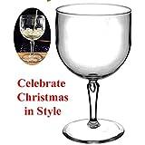 Ensemble de 6 RB incassables réutilisable en Polycarbonate verres en plastique Gin Cocktail vin (Vol 680ml/24 fl oz à rebord hauteur 19 cm, Max Diameter 10,3 cm) (Vie
