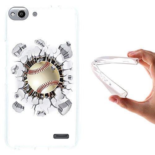 WoowCase Vodafone Smart Ultra 6 Hülle, Handyhülle Silikon für [ Vodafone Smart Ultra 6 ] Baseball Handytasche Handy Cover Case Schutzhülle Flexible TPU - Transparent