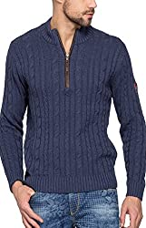 Spykar Mens Navy Regular Fit Mid Rise Sweaters (XX-Large)