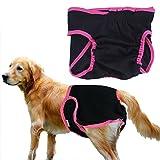 Rrimin Female Pet Puppy Dog Briefs Hygiene Sanitary Menstrual Pants Diaper (M)