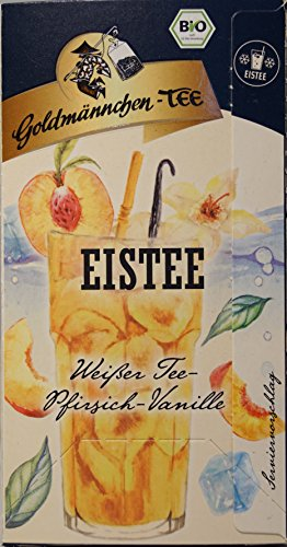 Goldmännchen-Tee Eistee Weißer Tee-Pfirsich-Vanille (1x30g) (20 Filterbeutel à 1,5g)