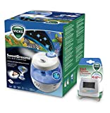 Humidificateur Vicks VUL575 Sweetdreams avec projecteur d'images + Vicks V70 Hygromètre et Thermomètre