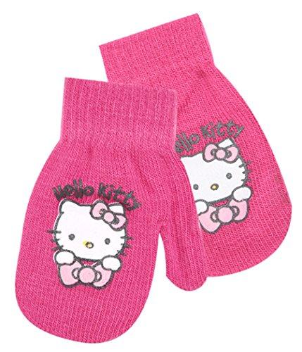 Hello Kitty Baby Mädchen Fäustlinge-4Farben Einzigartige Größe (6-36Monate) Dunkelrosa